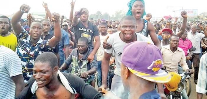 Protesters shut Asaba for Kanu