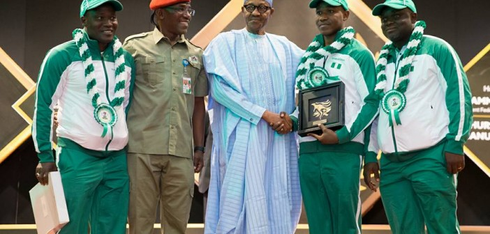 Buhari doles out N2m each to victorious 1985 Golden Eaglets, 30 years after