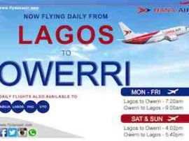 dana air flight schedule