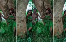 Couple Imitates Biblical Adam And Eve In Pre-Wedding Shoot. Is This Fashion Or Madness?