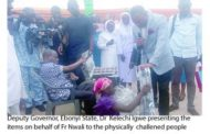 Cleric  Gives Succor To Physically Challenged Persons In Ebonyi