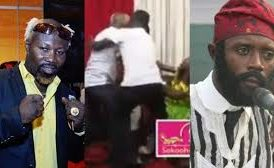 Ghanaian Boxer, Ayittey Powers, Beats Up Comedian On Live TV