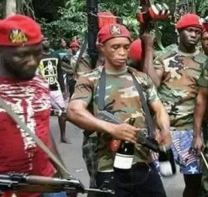 Late Don Waney's Fighters Surrender Arms In Owerri